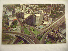 old postcard AERIAL VIEW, MIRAMAR HOTEL INTERSECTION 5, SAN JUAN, PUERTO RICO PR