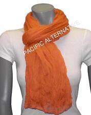 Foulard Orange grand gros 110x170 femme mixte chale echarpe NEUF scarf schal