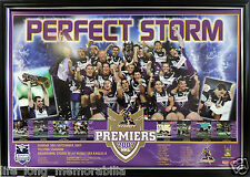 MELBOURNE STORM NRL PREMIERS 2007 LARGE POSTER FRAMED AND FULLY GLASSED NEW
