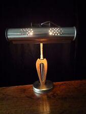 VTG Mid Century DANISH MODERN GOOSENECK EAMES DESK LAMP TEAK WOOD BRASS