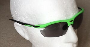 Rudy Project RYDON Sunglasses GREEN Frame Black Sides SMOKE Black Lens Ref:4B6