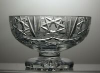LEAD CRYSTAL CUT GLASS FOOTED BOWL
