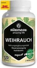 Weihrauch Kapseln hochdosiert  vegan, 900 mg Extrakt pro Tagesdosis, 85% Boswel