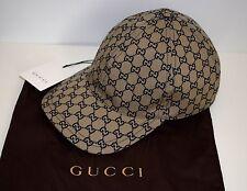 GUCCI SPORT CAP base cap size L (59 cm) BEIGE UNISEX ORIGINALE GG COTTON NUOVO