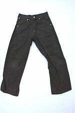LEVIS 049 VINTAGE 80s TWISTED MENS JEANS GREEN/GREY DENIM FADED RED TAB W26 L32