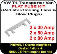 VW T4 Transporter Van FLAT FUSE KIT SET for Radiator / Cooling Fans & Glowplugs