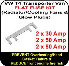 VW T4 Transporter 1.9 2.4 2.5 Van FLAT FUSE SET Rad Fan Glow Plug 30 50 80 Amp