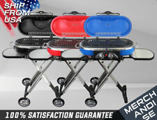 Portable Mini BBQ Grill 3 Colors Propane Foldable Cart, Camping Outdoor Party
