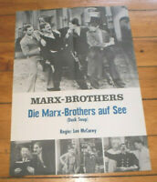 Plakat, Filmplakat,DIE MARX BROTHER AUF SEE,DUCK SOUP