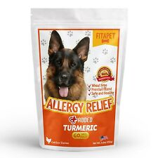 Fitapet Allergy Relief for Itchy Dogs-Turmeric, Omega-3, Quercetin and Bromelain
