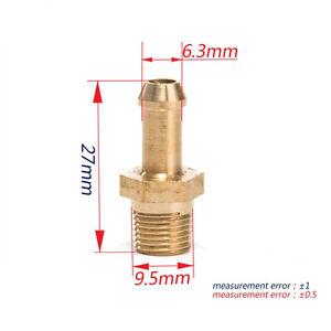 2x Turbocharger Compressor Brass Boost Nipple Garrett T2 T25 T28 T3 T34 1/8 NPT