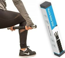 """Muscle Roller Stick For Athletes 18"""" Inches Body Massage Sticks Roller Black"""