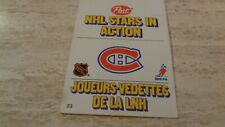 1981-82 Post NHL Stars In Action Pop-Ups #23 Montreal Canadiens - Mario Tremblay