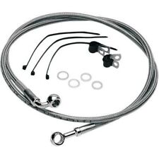Std Length Front Stainless Steel Brake Line Kit Clear Drag Specialties 640410