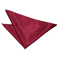 Burgundy Handkerchief Hanky Solid Plain Mens Formal Accessories by DQT