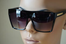 Huge Oversized Square Flat Top Retro Black Kim Glasses Designer Sunglasses 8818