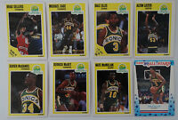 1989-90 Fleer Seattle Supersonics Team Set Of 8 Basketball Cards