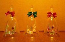 Three Vintage Avon 24% Full Lead Crystal Bells