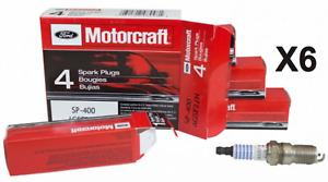 6 Spark Plugs Set Pack Nickel Motorcraft SP-400 Genuine OEM AGSF22N High Quality