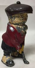 VTG SPORTS ADVERTISING STATUE FIGURE CAST METAL DUNLOP GOLF BALL MAN SWIVEL HEAD