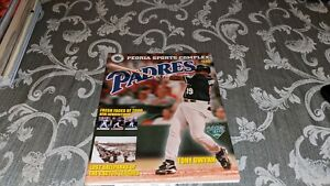 2000 Tony Gwynn San Diego Padres Spring Training Program Vs. Mariners