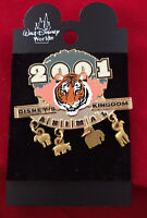 Disney World ANIMAL KINGDOM TIGER & ANIMALS Dangle Pin - Retired WDW Pins