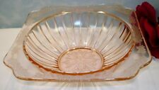Adam by Jeannette Pink Depression Glass Flanged Vegetable Bowl 8""