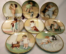 Lot of 8 The Hamilton Collection Plates A Child'S Best Friend Collection Numberd