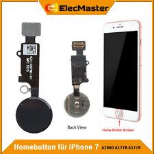 Home Button für iPhone 7 Finger Abdruck Knopf Touch Sensor Flex Kabel Schwarz