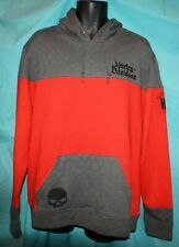 New Harley-Davidson Men's LongSleeve Sweat Shirt-XL-Orange/Gray #HA3K-HHH1-XL