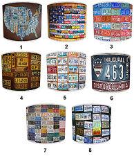 Pantallas de Lámpara para Combinar Vintage Retro Coche Camión Número & Registro