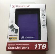 TRANSCEND STOREJET 25H3 1TB USB 3.0 DISQUE DUR EXTERNE NEUF SOUS BLISTER