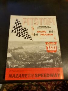 1975 Pitstop! Schaefer 100 Qualifying Event Racing Program 20 Nazareth Speedway