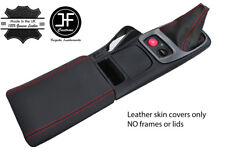 RED STITCH TOP GRAIN LEATHER GEAR BOOT & ARMREST COVER FOR HONDA S2000 99-03