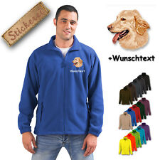 Fleece Jacket Embroidered Embroidery Dog Hovawart M2 + Desired Text