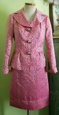 Etcetera Regal Skirt Suit jacket sz 2 skirt sz 4 hotpink Paisley New With Tags