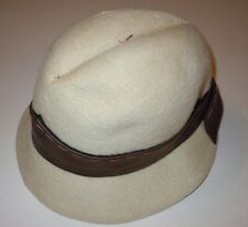 Yves Saint Laurent Vintage Cloche Fedora Hat Felt Italy Gus Mayer Paris New York