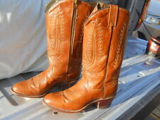 Vintage NOS Dan Post Custom Made  Zipper WESTERN COWBOY Cowgirl BOOTS 8.5 C Box