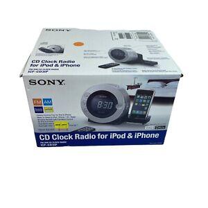 Sony Dream Machine Model ICF-CD3iP CD Clock Radio for iPhone & iPod