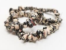 "4-9mm Jasper pink black DIY loose beads strand gemstones jewelry making 16"""
