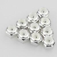 10PCS ALIENTAC Aluminum M2 Silver Nylon Hex Insert Self-Lock Nuts