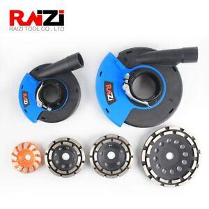 "Raizi 5"" 7"" Angle Grinder Dust Shroud With Diamond Grinding Cup Wheel"