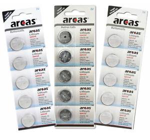 Arcas Batterien Knopfzellen CR2016 CR2025 CR2032 3V * Neueste Herstellung 2021 *
