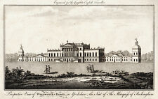 PERSPECTIVE VIEW OF WENTWORTH HOUSE, IN YORKSHIRE 1771 ANTIQUE ENGRAVING
