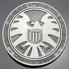Men Vintage Silver Agents Of Shield S.H.I.E.L.D. Eagle Superhero Belt Buckle