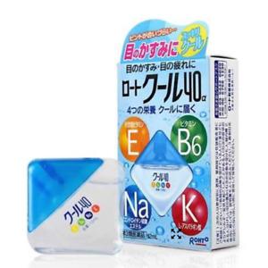 JAPAN Rohto Eye drops Cool 40a Alpha Vitamin Eye Health Blood Circulation 12mL