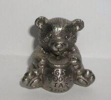 "Girl Scouts 2003 Pewter Bear w/Cookie Jar 1 3/8"" Figure~Scouts Sales Award Incen"