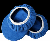 KE_ KF_ 2Pcs Microfiber Car Polishing Waxing Polisher Bonnet Buffing Pad Cover