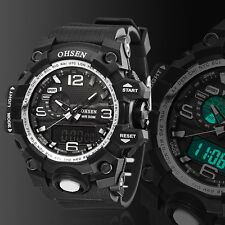 OHSEN Digital G Sport Quartz Military Watch Chronograph Water proof Shock White