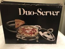 Leonard Silver Mfg A Towie Silver Company Silverplated Duo Server  NEW IN BOX